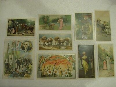 Antique Coffee and Tobacco Promo Cards Newsboy Lion McLaughlin's