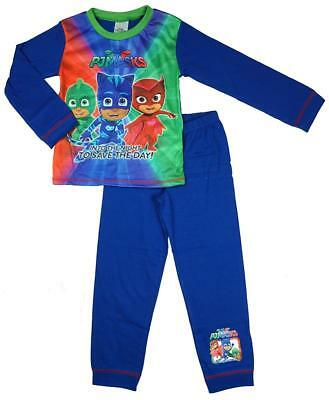 Boys Official PJ Masks Into the Night Save the Day Pyjamas 18 Months to 5 Years