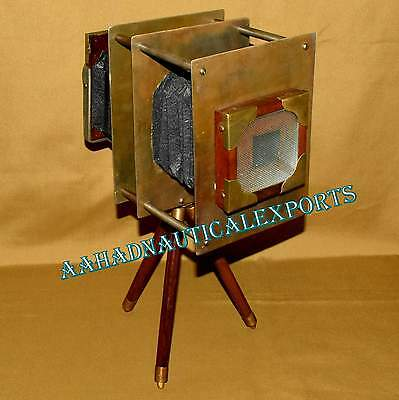 Vintage wooden camera mini retro film make collectible replica home desk décor07