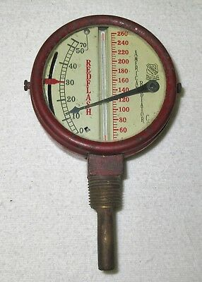 Old Vintage Redflash Steam Gauge - American Radiator Co. - Steampunk - NR