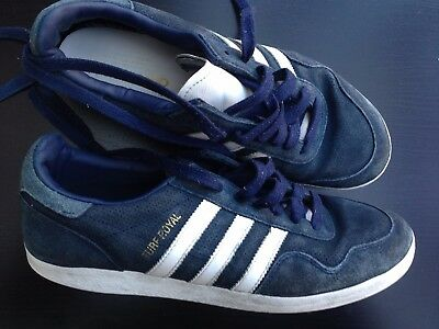 Adidas Mens Uk 9 Eu 43.5  Blue Suede Trainers Casual Running Shoes Sneakers