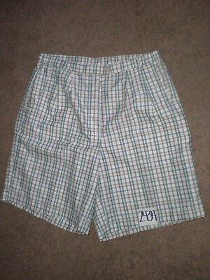 (Size 16) Allyson Whitmore AW Women's GREEN & BLACK Plaid Pleated Golf Shorts
