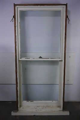 Antique Vintage Double Hung Window Unit Late 1800's Complete Window w/Hardware