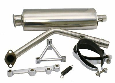 YMS V8 GY6 Performance Exhaust - Oval