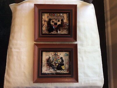 Vintage Pair of Silhouettes by C. & A. Richards  Signed
