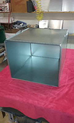 Supply Air Duct Plenum 16 X 22 X 34 Long Galvanized 28 Gauge Steel With 2 Caps