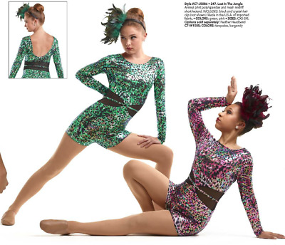 Leopard Print Jazz Dance Costume Pageant Child Small Untamed Animal