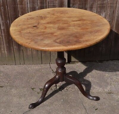 Antique Pedestal Tripod Table Georgian Wine Side Table Hall Plant Table to Paint