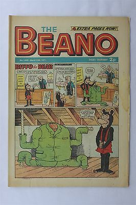 The Beano 1495 March 13th 1971 Vintage UK Comic Dennis The Menace Biffo Bear