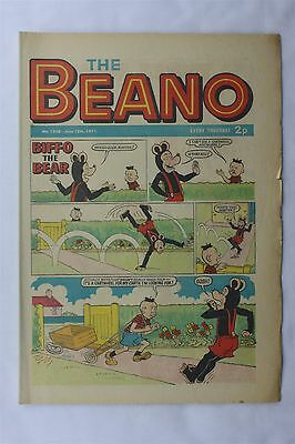 The Beano 1508 June 12th 1971 Vintage Comic Dennis The Menace Biffo The Bear
