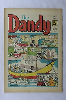 The Dandy 1535 April 24th 1971 Vintage UK Comic Korky The Cat Desperate Dan