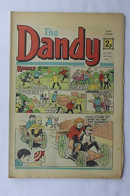 The Dandy 1606 September 2nd 1972 Vintage UK Comic Korky The Cat Desperate Dan