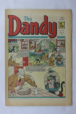 The Dandy 1671 December 1st 1973 Vintage UK Comic Korky The Cat Desperate Dan