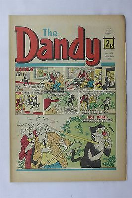 The Dandy 1670 November 24th 1973 Vintage UK Comic Korky The Cat Desperate Dan