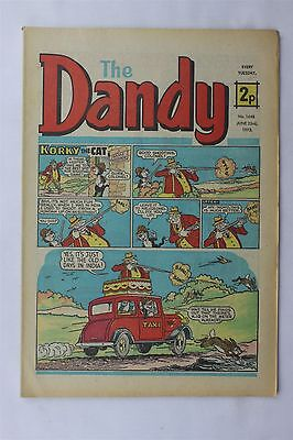 The Dandy 1648 June 23rd 1973 Vintage UK Comic Korky The Cat Desperate Dan