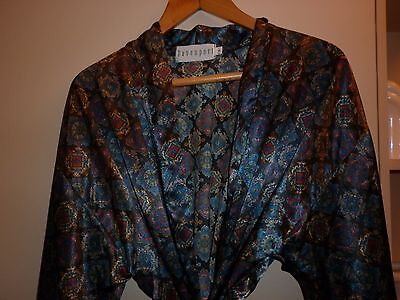 Vintage Australian Made Classical Motif Dressing Gown  Excellent Condition