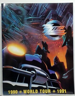ZZ TOP 1990 1991 RECYCLER Tour BOOK Concert PROGRAM pics
