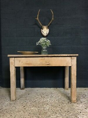 Victorian Antique Rustic Country Farmhouse Kitchen Island Table