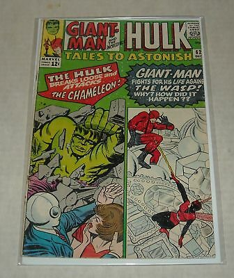 KEY 1964 Marvel TALES to ASTONISH #62 HULK PIN UP LEADER 1st Appear BELOW GUIDE