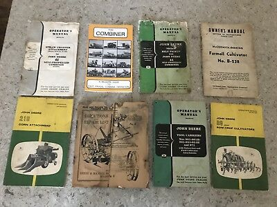 Vintage John Deere Owner's Manual Lot