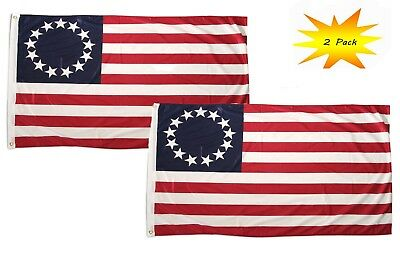 3x5 3'x5' Wholesale Set (2 Pack) Betsy Ross 13 Star Historical Flag Banner