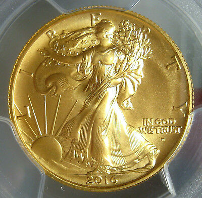 2016W Gold 100Th Anniversary Walking Liberty Half~Pcgs Ms69~1/2 Ounce Pure Gold