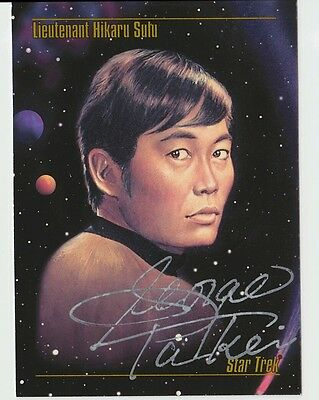 George Takei Star Trek 9x6 cm / Autograph Autogramm /NEXT GENERATION / original