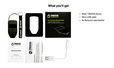 ⭐ Trezor Black Cryptocurrency Hardware Wallet BTC ETH ERC20   IN STOCK!!! ⭐