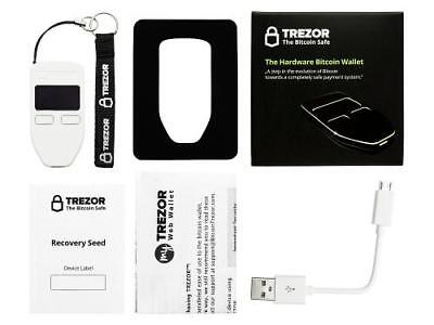 ⭐ Trezor White Cryptocurrency Hardware Wallet BTC ETH ERC20    IN STOCK!!! ⭐