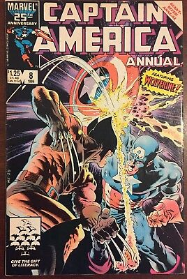 Captain America Annual #8 (1986, Marvel) 1st Appearance of Tess-One & Overrider