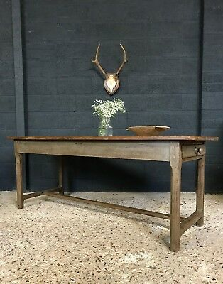 Stunning Antique French Original Painted Country Farmhouse Refectory Table