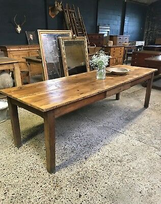 Stunning Large Antique French Rustic Country Farmhouse Kitchen Dining Table
