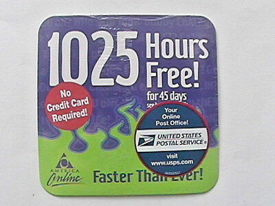 Aol 8.0 Cd Disk Advertising Promotion 1025 Hours Free 45 Days Im 7 Emails + More
