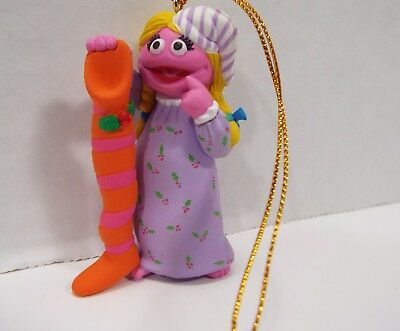 Sesame Street Collectible Betty Lou with Stocking Christmas Ornament Jim Henson