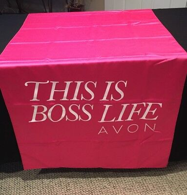 Avon Logo This Is Boss Life  - Table Runner - Events Promotional - Magenta New