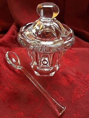 FLAWLESS Exquisite BACCARAT Crystal HARCOURT MISSOURI DISH BOWL LID JAR SPOON