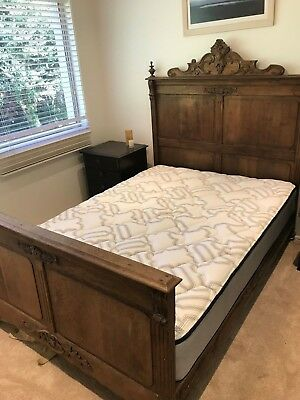 Beautiful French Antique Oak Double Bed $200 MORE OFF FRO QUICK SALE