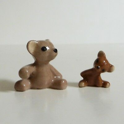 Hagen-Renaker Vintage Ceramic Big Brother and Little Brother Bears, retired