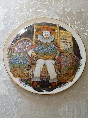 """1982 Royal Doulton """" Behind The Painted Masque """" Painted Feeling Plate Excellent"""