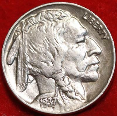 Uncirculated 1937 Philadelphia Mint  Buffalo Nickel Free Shipping