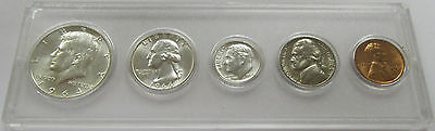 1964 Set of 5 BU Coins in Plastic Display Holder * United States Coins