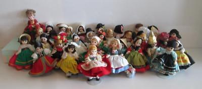 "Mega Lot of 36x 8"" Vintage Madame Alexander Porcelain Dolls International Series"