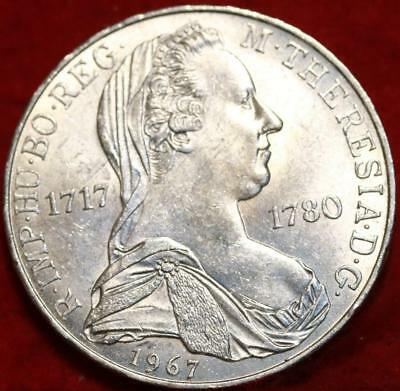 Uncirculated 1967 Austria 25 Schilling Silver Foreign Coin Free S/H