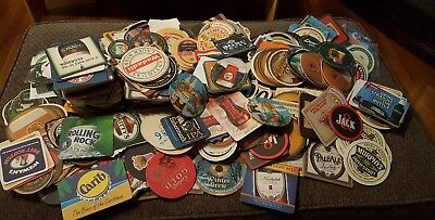 BEER PUB COASTER hard Alcohol Large Mixed Lot of 30 coasters All different (os2)
