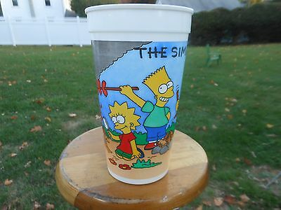 The Simpsons Camping Scene Cup Burger King 1990