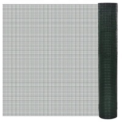 vidaXL 1x25m Galvanised Wire Netting Mesh Pet Poultry Fencing Chicken Coop 25mm