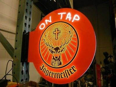 NEW Jagermeister ON TAP LED Pub Sign DOUBLE SIDED Rare