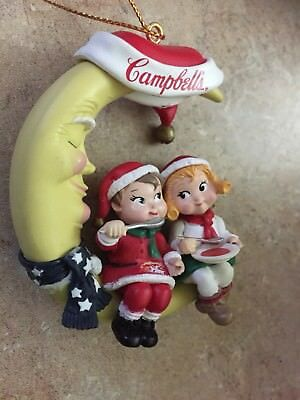 """Vintage 1995 Campbell's Kids Soup Christmas Ornament """"Dinner by Moonlight"""""""