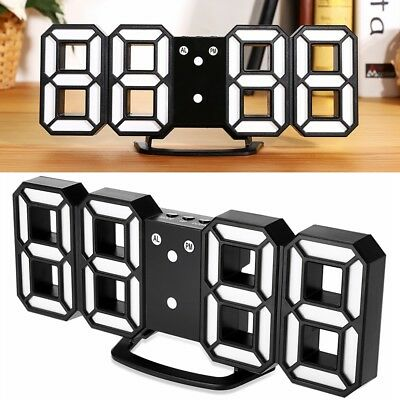 Practical Table Desk Night Wall Digital LED Clock Alarm 24/12 Hour Display