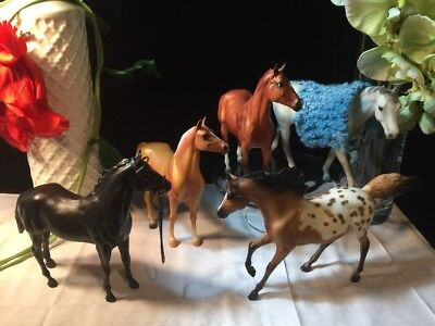 Lot of Five (5) Breyer Horses - 2 with Accessories